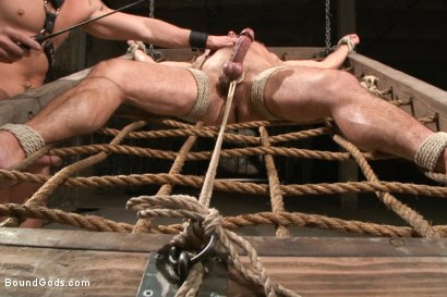 Photo number 8 from A Struggle for Power shot for Bound Gods on Kink.com. Featuring Jeremy Stevens and Dirk Caber in hardcore BDSM & Fetish porn.