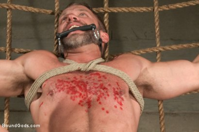 Photo number 12 from A Struggle for Power shot for Bound Gods on Kink.com. Featuring Jeremy Stevens and Dirk Caber in hardcore BDSM & Fetish porn.