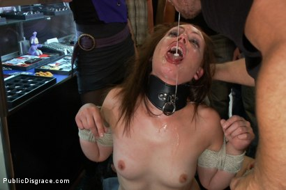 Photo number 2 from Made to Piss in Public shot for Public Disgrace on Kink.com. Featuring Lorelei Lee, Sarah Shevon and Mr. Pete in hardcore BDSM & Fetish porn.