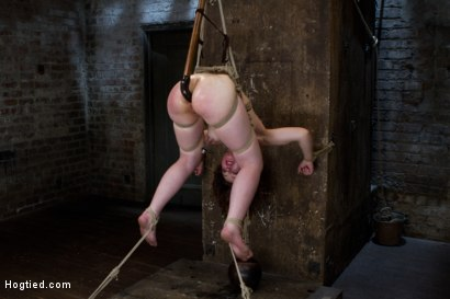 Photo number 15 from Blue Eyed Beauty Sarah Shevon Challenged Classic HogTied Style shot for Hogtied on Kink.com. Featuring Danny Wylde and Sarah Shevon in hardcore BDSM & Fetish porn.