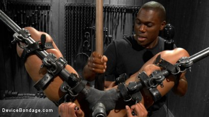 Photo number 14 from Skin Diamond gets roughed up by Jack Hammer in their first scene together shot for Device Bondage on Kink.com. Featuring Skin Diamond and Jack Hammer in hardcore BDSM & Fetish porn.