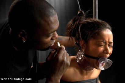 Photo number 3 from Skin Diamond gets roughed up by Jack Hammer in their first scene together shot for Device Bondage on Kink.com. Featuring Skin Diamond and Jack Hammer in hardcore BDSM & Fetish porn.