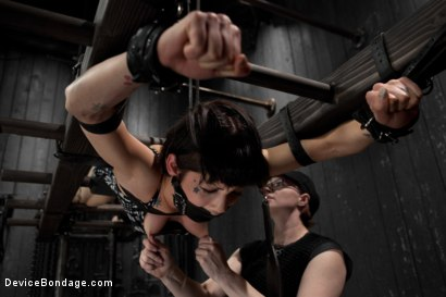 Photo number 1 from Dark and Sultry Asphyxia Noir Gets Her Pain Limits Put To The Test shot for Device Bondage on Kink.com. Featuring Asphyxia Noir in hardcore BDSM & Fetish porn.