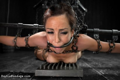 Photo number 3 from Hot Bryn Blayne In Chain Only Suspension Bondage shot for Device Bondage on Kink.com. Featuring Bryn Blayne in hardcore BDSM & Fetish porn.
