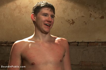 Photo number 15 from Hazing the brand new boy in front of a crowd - CMNM style shot for Bound in Public on Kink.com. Featuring Dakota Wolfe, Colby Jansen and Tristan Jaxx in hardcore BDSM & Fetish porn.