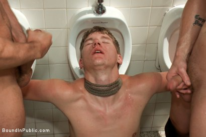Photo number 14 from 19 Year Old Studs! Gang Fucked, The Belt, Piss, The Wall of Cocks, Cum Facial shot for Bound in Public on Kink.com. Featuring Dakota Wolfe, Colby Jansen and Tristan Jaxx in hardcore BDSM & Fetish porn.