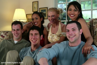 Photo number 15 from mini, Mitch West, Mika Tan, Danny Wylde, Dax Star, Jasmine Byrne and Xana Star shot for Men In Pain on Kink.com. Featuring Mitch West, Danny Wylde, Jasmine Byrne, Xana Star, mini, Mika Tan and Dax Star in hardcore BDSM & Fetish porn.