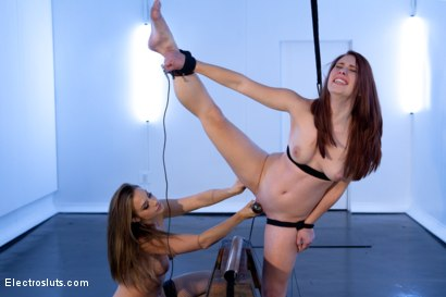 Photo number 7 from Electro-Ballerina: Melody Jordan shot for Electro Sluts on Kink.com. Featuring Melody Jordan and Chanel Preston in hardcore BDSM & Fetish porn.