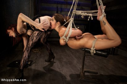 Photo number 5 from Porn Star Royalty: Francesca Le shot for Whipped Ass on Kink.com. Featuring Francesca Le and Maitresse Madeline Marlowe in hardcore BDSM & Fetish porn.