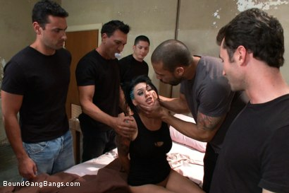 Photo number 1 from BUSTED! Eva Angelina Plays a Hooker Gangbanged by Crooked Cops! DP, DV, DA shot for Bound Gang Bangs on Kink.com. Featuring Eva Angelina, James Deen, Karlo Karrera, Alex Gonz, Marco Banderas, Ryan Driller and Tony Martinez in hardcore BDSM & Fetish porn.