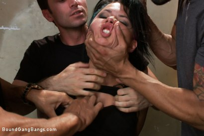 Photo number 2 from BUSTED! Eva Angelina Plays a Hooker Gangbanged by Crooked Cops! DP, DV, DA shot for Bound Gang Bangs on Kink.com. Featuring Eva Angelina, James Deen, Karlo Karrera, Alex Gonz, Marco Banderas, Ryan Driller and Tony Martinez in hardcore BDSM & Fetish porn.