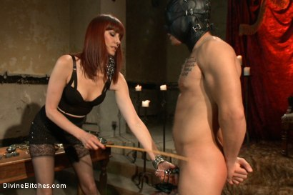 Photo number 3 from The Prostate Milking Queen shot for Divine Bitches on Kink.com. Featuring Maitresse Madeline Marlowe  and Steve Sterling in hardcore BDSM & Fetish porn.
