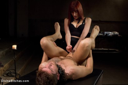 Photo number 13 from The Prostate Milking Queen shot for Divine Bitches on Kink.com. Featuring Maitresse Madeline Marlowe  and Steve Sterling in hardcore BDSM & Fetish porn.