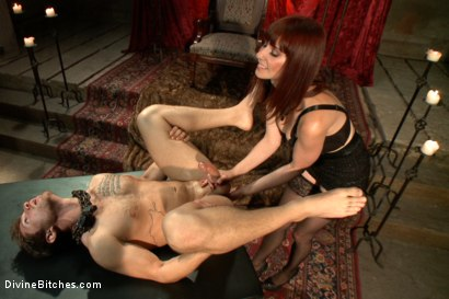 Photo number 14 from The Prostate Milking Queen shot for Divine Bitches on Kink.com. Featuring Maitresse Madeline Marlowe  and Steve Sterling in hardcore BDSM & Fetish porn.