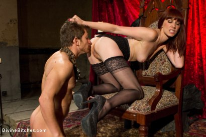 Photo number 9 from The Prostate Milking Queen shot for Divine Bitches on Kink.com. Featuring Maitresse Madeline Marlowe  and Steve Sterling in hardcore BDSM & Fetish porn.