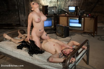 Photo number 7 from A Sadistic Goddess shot for Divine Bitches on Kink.com. Featuring Wolf Hudson and Aiden Starr in hardcore BDSM & Fetish porn.