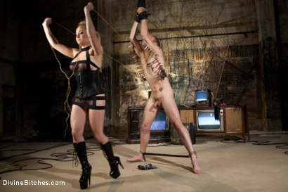 Photo number 3 from A Sadistic Goddess shot for Divine Bitches on Kink.com. Featuring Wolf Hudson and Aiden Starr in hardcore BDSM & Fetish porn.
