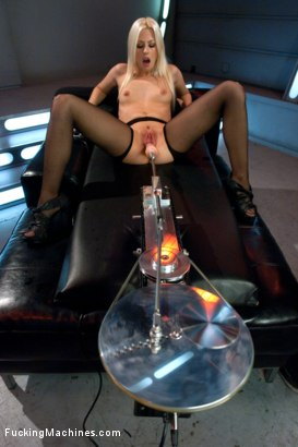 Photo number 5 from Hot French Girl Fucked Hard By Machines in Her Pussy and Ass shot for Fucking Machines on Kink.com. Featuring Jessie Volt in hardcore BDSM & Fetish porn.
