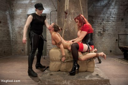 Photo number 9 from Ariel X Live Show - Complete Edited Version shot for Hogtied on Kink.com. Featuring Ariel X and Mz Berlin in hardcore BDSM & Fetish porn.