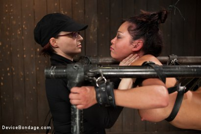 Photo number 5 from Mia Lelani - Big Titted Cunt Tormented - Complete Edited Live Show shot for Device Bondage on Kink.com. Featuring Mia Lelani, Mz Berlin and Bella Rossi in hardcore BDSM & Fetish porn.