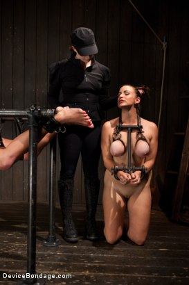 Photo number 7 from Mia Lelani - Big Titted Cunt Tormented - Complete Edited Live Show shot for Device Bondage on Kink.com. Featuring Mia Lelani, Mz Berlin and Bella Rossi in hardcore BDSM & Fetish porn.