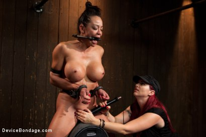 Photo number 13 from Mia Lelani - Big Titted Cunt Tormented - Complete Edited Live Show shot for Device Bondage on Kink.com. Featuring Mia Lelani, Mz Berlin and Bella Rossi in hardcore BDSM & Fetish porn.