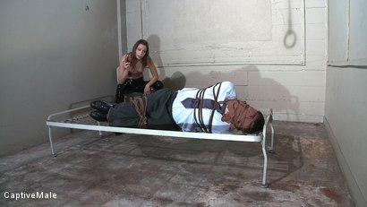 Photo number 2 from Bad Businessman! shot for Captive Male on Kink.com. Featuring Amber Rayne and Wild Bill in hardcore BDSM & Fetish porn.