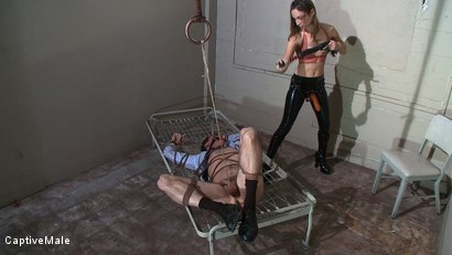 Photo number 6 from Bad Businessman! shot for Captive Male on Kink.com. Featuring Amber Rayne and Wild Bill in hardcore BDSM & Fetish porn.
