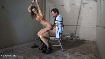 Photo number 7 from Bad Businessman! shot for Captive Male on Kink.com. Featuring Amber Rayne and Wild Bill in hardcore BDSM & Fetish porn.