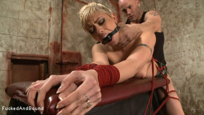 Photo number 7 from Little Miss Tough Girl shot for  on Kink.com. Featuring Derrick Pierce and Satine Phoenix in hardcore BDSM & Fetish porn.