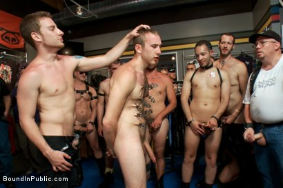 Photo number 10 from Cody Allen - Naked, Tied up, Zippered, Humiliated in Public shot for Bound in Public on Kink.com. Featuring Cody Allen, Sebastian Keys and Master Avery in hardcore BDSM & Fetish porn.