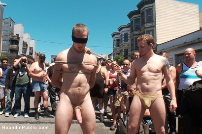 Photo number 8 from Cody Allen - Naked, Tied up, Zippered, Humiliated in Public shot for Bound in Public on Kink.com. Featuring Cody Allen, Sebastian Keys and Master Avery in hardcore BDSM & Fetish porn.