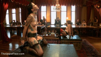 Photo number 5 from Stefanos' Brunch shot for The Upper Floor on Kink.com. Featuring Krysta Kaos and Odile in hardcore BDSM & Fetish porn.