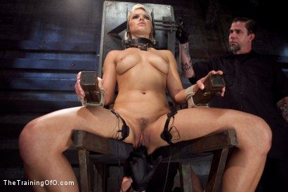Photo number 3 from Training Anikka Albrite - Day 1 shot for The Training Of O on Kink.com. Featuring Anikka Albrite and Maestro Stefanos in hardcore BDSM & Fetish porn.
