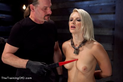 Photo number 2 from Training Anikka Albrite - Day 1 shot for The Training Of O on Kink.com. Featuring Anikka Albrite and Maestro Stefanos in hardcore BDSM & Fetish porn.