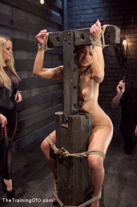 Photo number 3 from Opening up Anikka Albrite: Day Two shot for The Training Of O on Kink.com. Featuring Anikka Albrite and Aiden Starr in hardcore BDSM & Fetish porn.