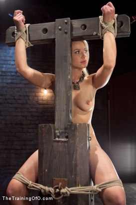 Photo number 4 from Opening up Anikka Albrite: Day Two shot for The Training Of O on Kink.com. Featuring Anikka Albrite and Aiden Starr in hardcore BDSM & Fetish porn.