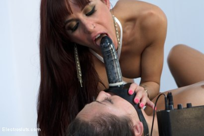 Photo number 11 from Little Slut Eats Squirt while having her Feet Shocked shot for Electro Sluts on Kink.com. Featuring Kristina Rose and Gia DiMarco in hardcore BDSM & Fetish porn.