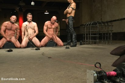 Photo number 13 from The Battle of the Pain Sluts - Live Shoot shot for Bound Gods on Kink.com. Featuring Van Darkholme, Master Avery, Chad Brock, Scratch and Chad Rock in hardcore BDSM & Fetish porn.