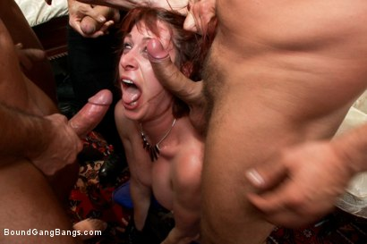 Photo number 3 from The Groupie: Featuring Odile in her First Gangbang Ever! shot for Bound Gang Bangs on Kink.com. Featuring Toni Ribas, Brian Street Team, Mr. Pete, Owen Gray, John Strong and Odile in hardcore BDSM & Fetish porn.