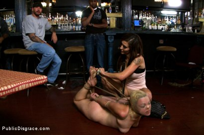Photo number 14 from Blonde Cutie Tied-up and Ass Fisted in Public!!! shot for Public Disgrace on Kink.com. Featuring John Strong and Alice Frost in hardcore BDSM & Fetish porn.