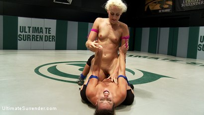 """Photo number 13 from Dylan """"White Lightening"""" vs. up and coming rookie Andre """"The Teflon Don"""" Shakti shot for Ultimate Surrender on Kink.com. Featuring Andre Shakti and Dylan Ryan in hardcore BDSM & Fetish porn."""