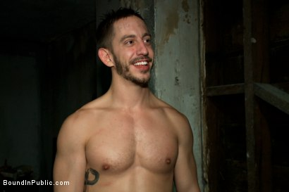Photo number 15 from Naked ripped stud gets humiliated and used in a crowded public bar. shot for Bound in Public on Kink.com. Featuring Bryan Cole, Adam Herst and Tristan Jaxx in hardcore BDSM & Fetish porn.