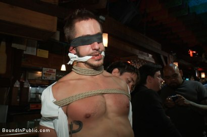 Photo number 2 from Naked ripped stud gets humiliated and used in a crowded public bar. shot for Bound in Public on Kink.com. Featuring Bryan Cole, Adam Herst and Tristan Jaxx in hardcore BDSM & Fetish porn.