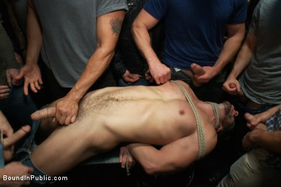 Photo number 13 from Naked ripped stud gets humiliated and used in a crowded public bar. shot for Bound in Public on Kink.com. Featuring Bryan Cole, Adam Herst and Tristan Jaxx in hardcore BDSM & Fetish porn.