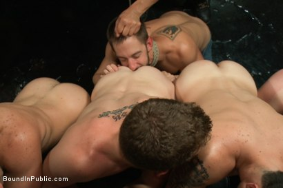Photo number 10 from Naked ripped stud gets humiliated and used in a crowded public bar. shot for Bound in Public on Kink.com. Featuring Bryan Cole, Adam Herst and Tristan Jaxx in hardcore BDSM & Fetish porn.