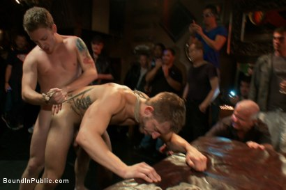 Photo number 9 from Tickle Torment A Ripped Stud in a Public Bar shot for Bound in Public on Kink.com. Featuring Bryan Cole, Adam Herst and Tristan Jaxx in hardcore BDSM & Fetish porn.