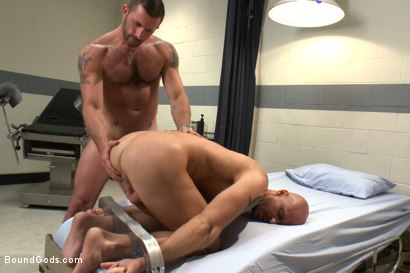 Photo number 12 from Doctor Morgan Black's Fantasy shot for Bound Gods on Kink.com. Featuring Morgan Black and Mitch Vaughn in hardcore BDSM & Fetish porn.
