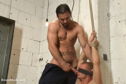 Photo number 5 from Phenix Saint is back with a vengeance.' shot for Bound Gods on Kink.com. Featuring Randall O'Reilly and Phenix Saint in hardcore BDSM & Fetish porn.