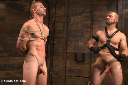 Photo number 5 from Cock Slave shot for Bound Gods on Kink.com. Featuring Adam Herst and Patrick Rouge in hardcore BDSM & Fetish porn.